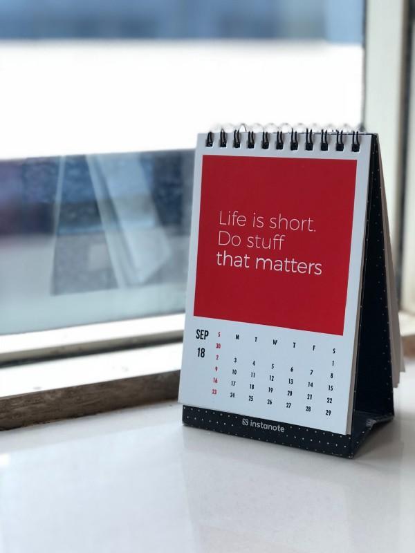 a motivational calendar